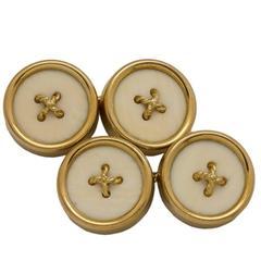 Tiffany & Co. Yellow Gold Button Cufflinks circa 1950s