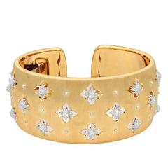 Buccellati  Yellow and White Gold Macri Cuff