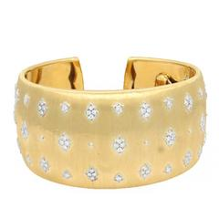Gold Buccellati Diamond Cuff Bracelet
