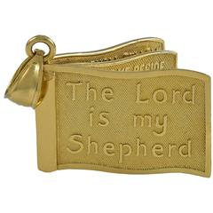 The Lord is my Shepherd Gold Charm