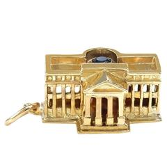 Gold White House Charm