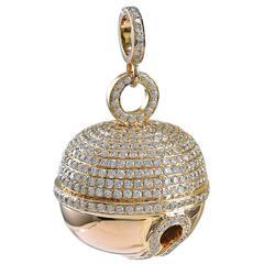 Diamond Encrusted Rose Gold Bell