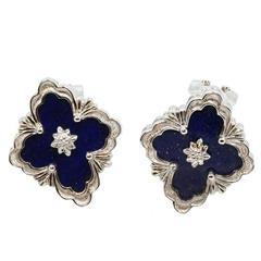 18 Karat White Gold Buccellati Opera Button Earrings