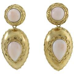 Luise Coral Gold Chandelier Earrings