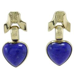 Luise Lapis Gold Stud Earrings