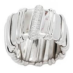 18 Karat White Gold Nabucco Ring with Diamonds
