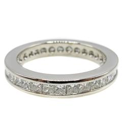 Princess Cut Diamond Platinum Eternity Band Ring