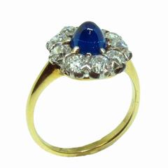 Victorian Gold, Platinum, Diamond, and Sapphire Ring