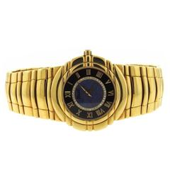 Piaget Yellow Gold Tanagra Diamond Opal Manual Wind Wristwatch