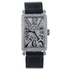 Franck Muller ladies White Gold Diamond Set Long Island Quartz Wristwatch, c2008