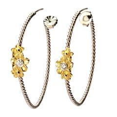 Stambolian Diamond Gold Hoop Earrings