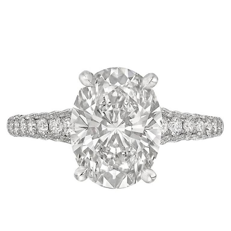 Betteridge 3.01 Carat Oval Brilliant-Cut Diamond Engagement Ring
