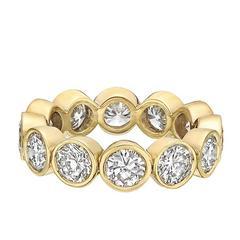 Yellow Gold Bezel-Set Diamond Eternity Band