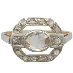 1930s Diamond and Yellow Gold Ring