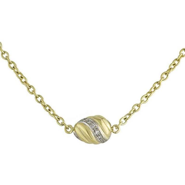 Cartier Swirl Gold and Diamond Pendant