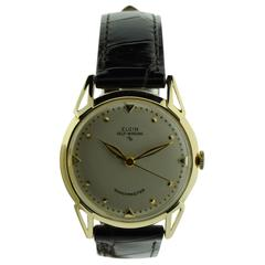 Elgin Yellow Gold Art Deco Automatic Wristwatch