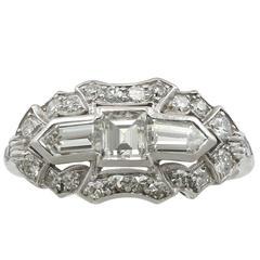 1950s 1.72 Carat Diamond and Platinum Cocktail Ring