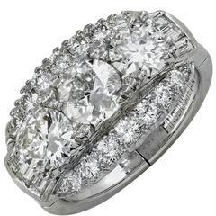 2 Carat Diamond Cocktail Ring, circa 1950s