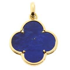 Van Cleef & Arpels Magic Alhambra Lapis Lazuli Pendant