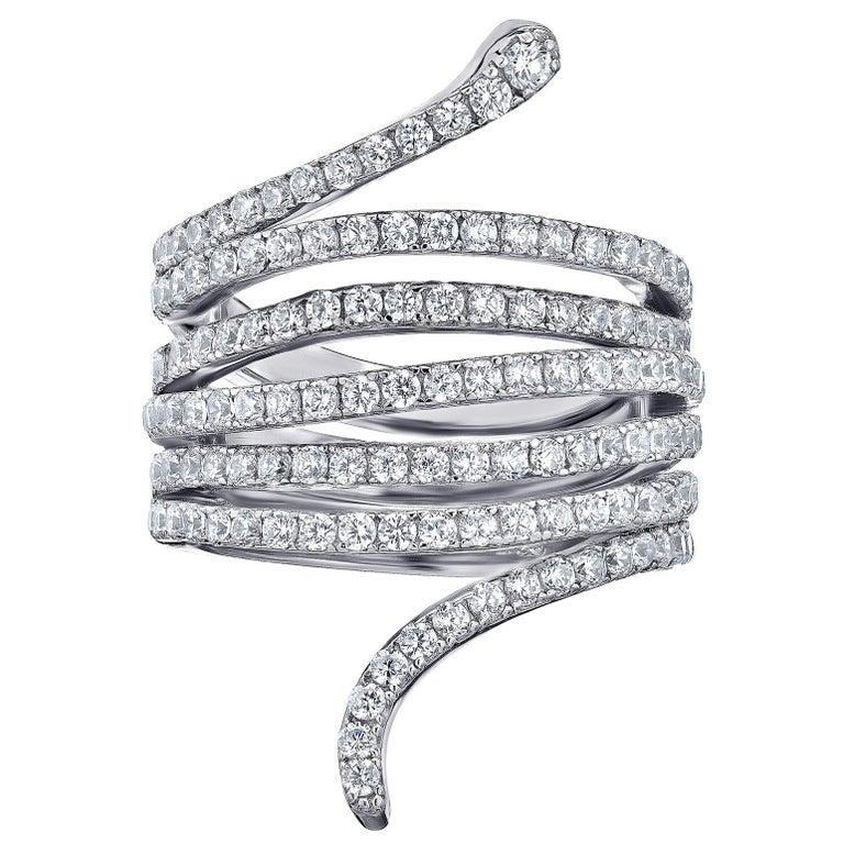 Emilio Jewelry Diamond Snake Ring