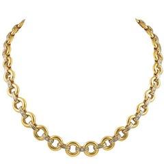 Cartier Gold Diamond Chain