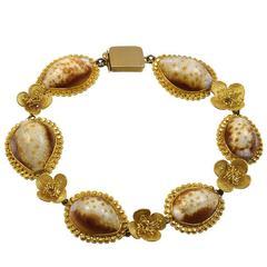 Georgian Cowrie Shell Gold Bracelet