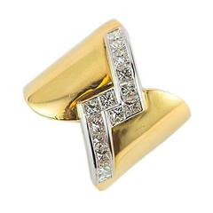 1.51 Carat Diamond Gold Band Ring