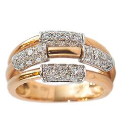 0.91 ct Diamond Gold Band Ring