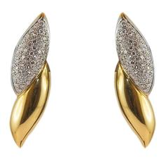 2.26 ct Diamond Gold Earrings