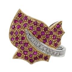 Luise White Diamonds Rubies Ring