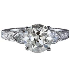 GIA Certified Diamond Gold Engagement Ring