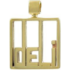 Gold Deli Charm Pendant