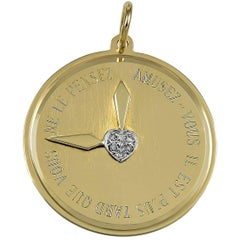 It Is Later Than You Think Gold Gemset Charm