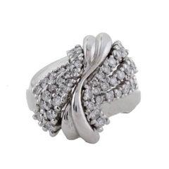 KT 1,47 Diamond White Gold Ring