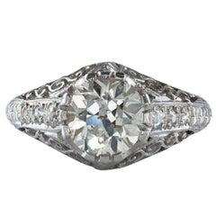 Antique 1.80 Carat Diamond Ring