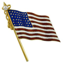Bailey Banks & Biddle Gold Flag Pin