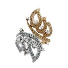 Fancy Diamond Butterfly Gold  Ring