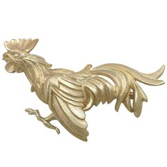 Antique Yellow Gold Cockerel Brooch
