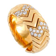 Bvlgari Spiga Diamond Gold Ring