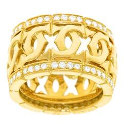 Cartier Double C Diamond Gold Ring