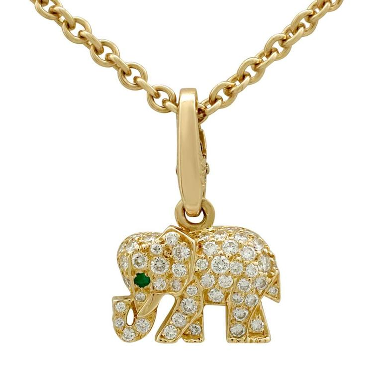 small necklac necklace elephant pendant anna major beck mint