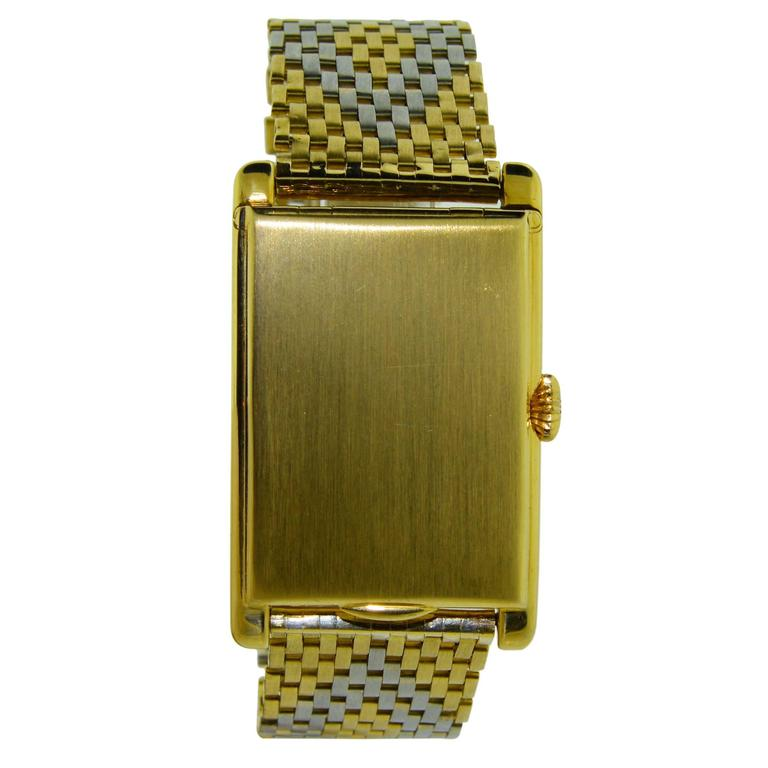 Van Cleef & Arpels Yellow and White Gold Handmade Bracelet Watch