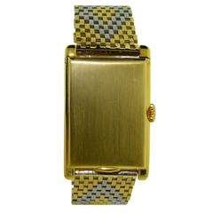 Van Cleef & Arpels Yellow and White Gold Handmade Bracelet Watch