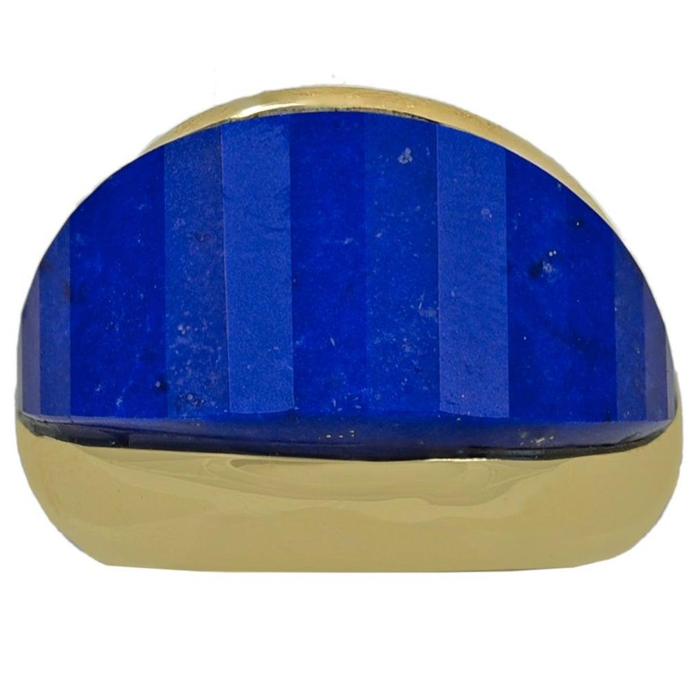Striking Lapis Lazuli Gold Ring
