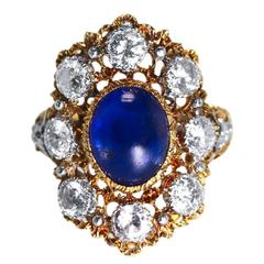 1950s Buccellati Sapphire and Diamond Ring