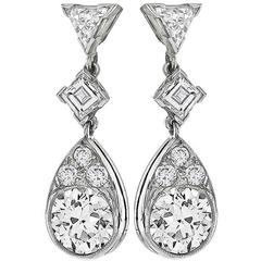 Diamond Platinum Earrings