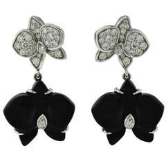 """Cartier """"Caresse d'Orchidées par Cartier"""" Diamond Drop Earrings"""