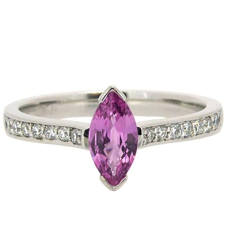 pink jamesallen sapphire engagement gemstone com rings halo rose setting gold stg img