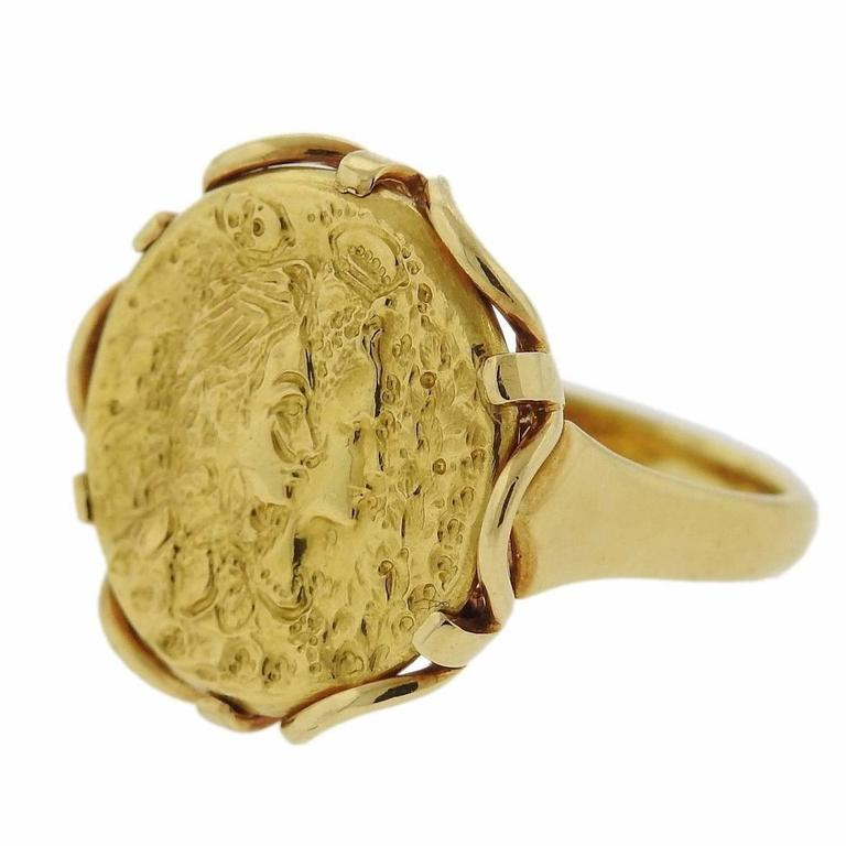 a3643c2a061 Rare Salvador Dali Gold Coin Medal Ring at 1stdibs
