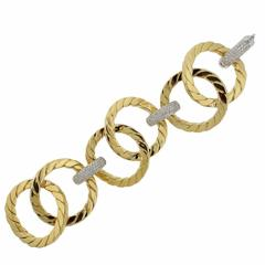 Large Nicolis Cola Diamond Gold Link Bracelet